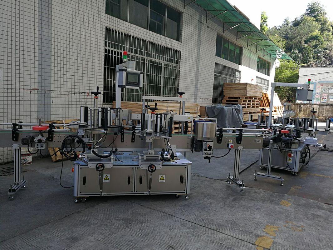 د فلیټ / مربع بوتل سټیکر لیبل کولو ماشین بشپړ اتوماتیک 5000-8000B / H وړتیا